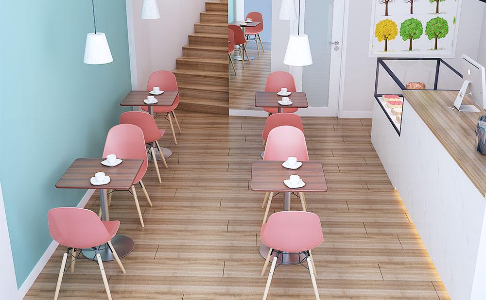 カフェテーブル ブラウン 使用イメージ