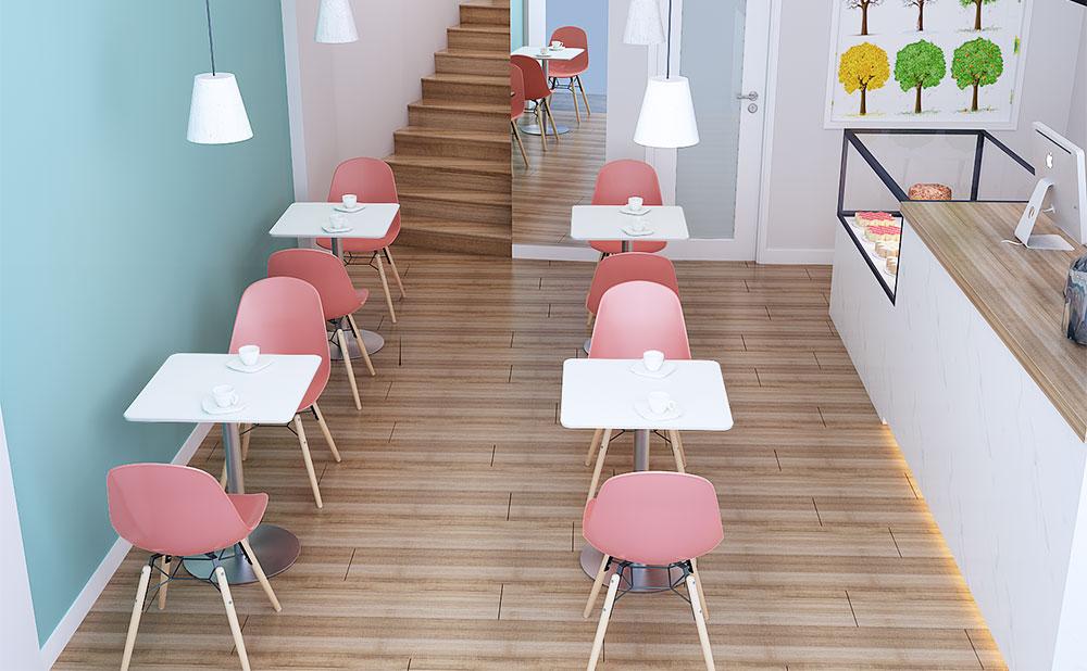 カフェテーブル ホワイト 使用イメージ