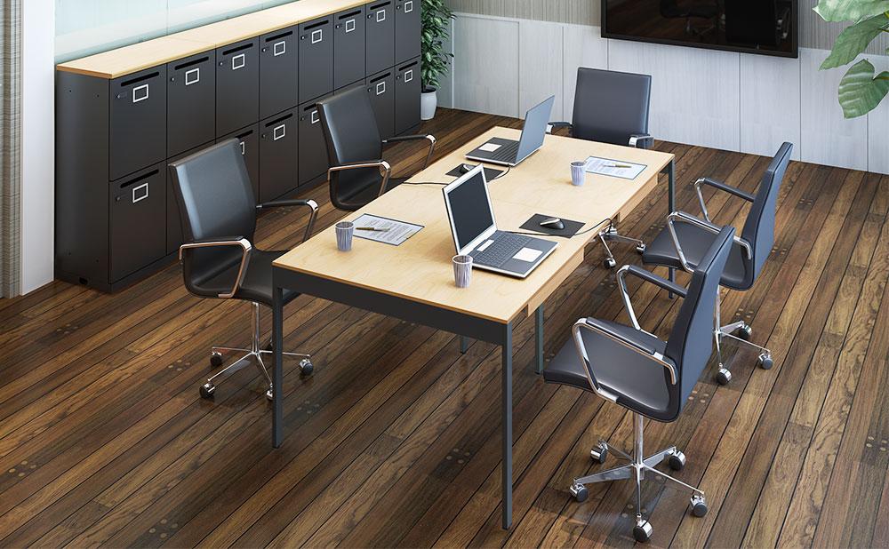 フリーアドレスデスク オフィスデスク 使用イメージ